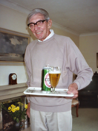 Uncle Jack Serving a Cold Beer