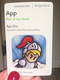 Card describing the App Epic Eric